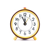 Reloj retro aislado en el fondo blanco Fotografía de archivo libre de regalías