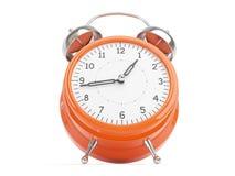 Reloj retro anaranjado Imagen de archivo