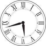 Reloj retro con Roman Dial Fotos de archivo libres de regalías