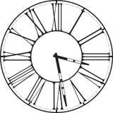 Reloj retro con Roman Dial Foto de archivo libre de regalías