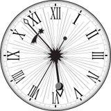 Reloj retro con Roman Dial Fotos de archivo