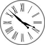Reloj retro con Roman Dial Fotografía de archivo libre de regalías