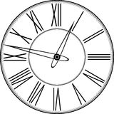 Reloj retro con Roman Dial Foto de archivo