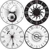 Reloj retro con Roman Dial Imagenes de archivo