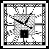 Reloj retro con Roman Dial Imagen de archivo libre de regalías