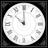 Reloj retro con Roman Dial Fotografía de archivo