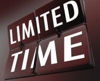 Reloj retro de la oferta por tiempo limitado que mueve de un tirón trato de la venta especial de las tejas ilustración del vector