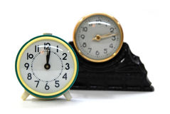 Reloj retro de la sepia Fotografía de archivo