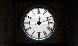 Reloj retroiluminado de la antigüedad Imagenes de archivo