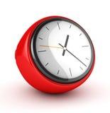 Reloj rojo Fotos de archivo libres de regalías
