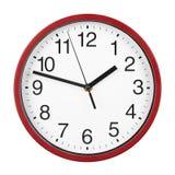 Reloj rojo Fotografía de archivo