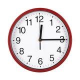 Reloj rojo Imagenes de archivo
