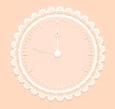 Reloj romántico Imagen de archivo libre de regalías