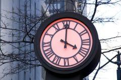 Reloj romántico de la calle Imágenes de archivo libres de regalías