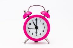 Reloj rosado del vintage Fotografía de archivo