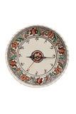 Reloj rumano tradicional de la cerámica Imagenes de archivo