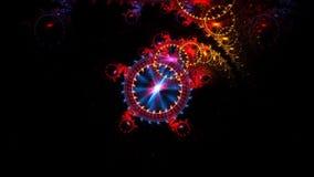 Reloj sideral colorido que se mueve en espacio