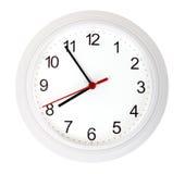 Reloj simple blanco Imagen de archivo libre de regalías