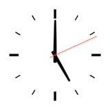 Reloj sin números con las sombras Fotografía de archivo
