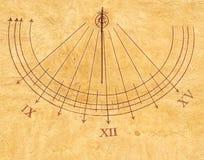 Reloj solar Imagen de archivo