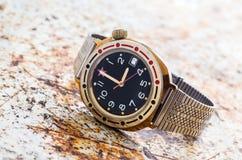 Reloj soviético del ejército Foto de archivo