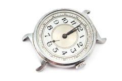 Reloj sucio viejo Imagenes de archivo