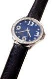 Reloj tachonado diamante imagen de archivo libre de regalías