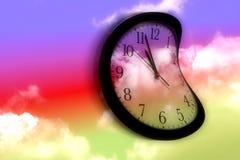 Reloj torcido Imagenes de archivo