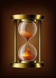 Reloj transparente de la arena del vector Imágenes de archivo libres de regalías
