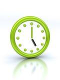 Reloj verde abstracto Fotos de archivo libres de regalías