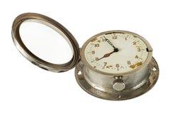Reloj viejo abierto de la marina Imágenes de archivo libres de regalías