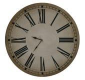 Reloj viejo con los números romanos Fotos de archivo libres de regalías