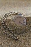 Reloj viejo con los números romanos Foto de archivo libre de regalías