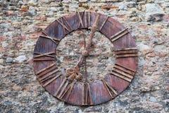 Reloj viejo de la catedral de Zagreb, Croacia fotografía de archivo
