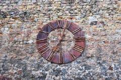 Reloj viejo de la catedral de Zagreb, Croacia imágenes de archivo libres de regalías