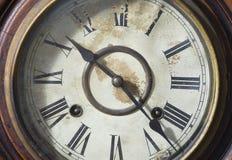 Reloj viejo de la obra clásica del vintage Fotografía de archivo
