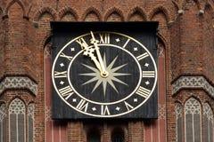 Reloj viejo de la torre Imágenes de archivo libres de regalías