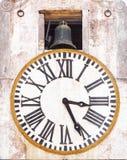 Reloj viejo de la torre Foto de archivo libre de regalías