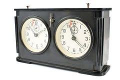 Reloj viejo del ajedrez Fotos de archivo libres de regalías