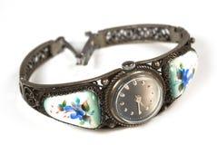Reloj viejo del hierro Imagenes de archivo
