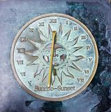 Reloj viejo del sol Imagen de archivo libre de regalías
