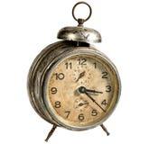 Reloj viejo del vintage aislado en blanco Trayectoria incluida fotos de archivo
