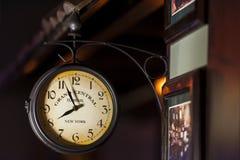 Reloj viejo magnífico del terminal central Imágenes de archivo libres de regalías