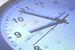 Reloj y calendario fotografía de archivo