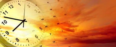 Reloj y calendario ilustración del vector