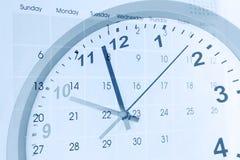 Reloj y calendario Fotos de archivo libres de regalías