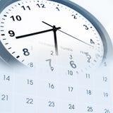 Reloj y calendario Imágenes de archivo libres de regalías