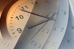 Reloj y calendario Foto de archivo libre de regalías