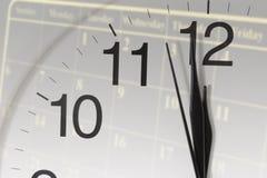 Reloj y calendario Fotografía de archivo libre de regalías
