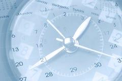 Reloj y calendarios Imágenes de archivo libres de regalías